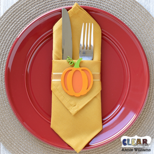 Autumn Napkin Rings by Annie Williams for Clear Scraps - Staged