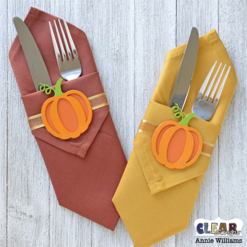 Autumn Napkin Rings by Annie Williams for Clear Scraps - Main