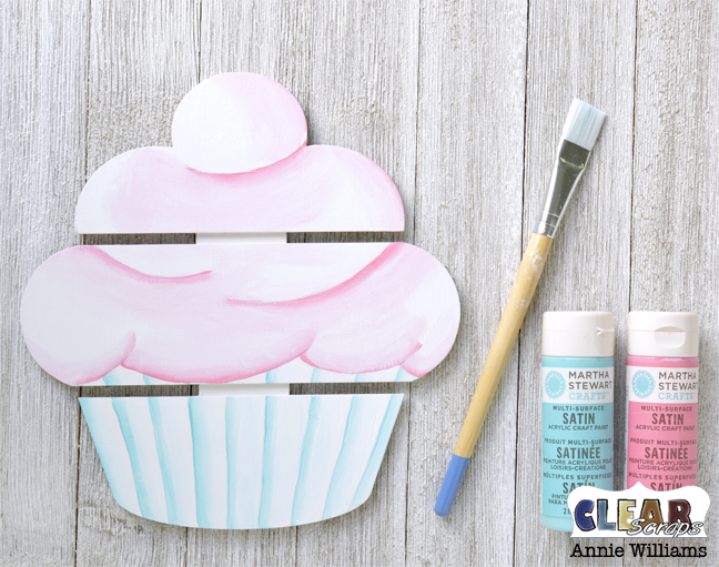 Birthday Cupcake Pallet by Annie Williams for Clear Scraps - Handpainting