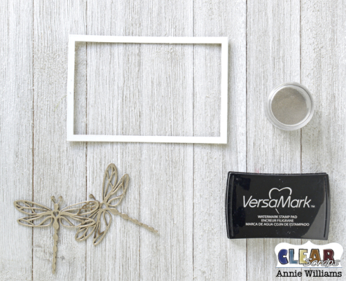 Simple Life Photo Frame Pallet by Annie Williams for Clear Scraps - Embossing Chipboard