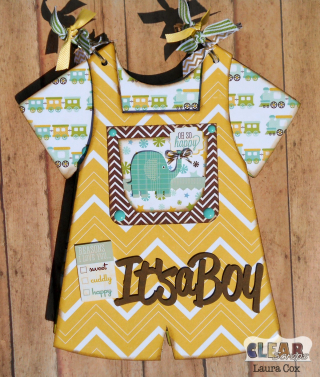 Clear_Scraps_Boy Bib Overalls Chip Album