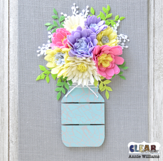 Mason Jar Bouquet Canvas by Annie Williams for CS - Assembled