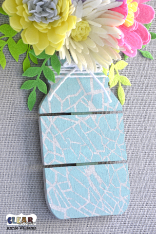 Mason Jar Bouquet Canvas by Annie Williams for CS - Detail