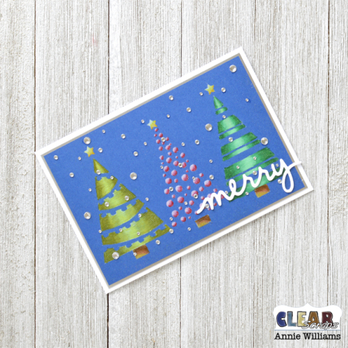Snowy Christmas Tree Card by Annie Williams for Clear Scraps - Final