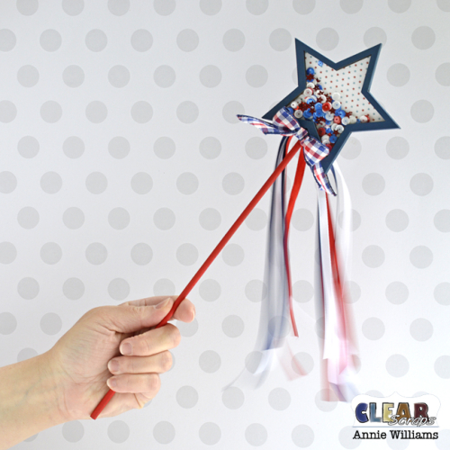 Patriotic Shaker Wand by Annie Williams for CS - Main