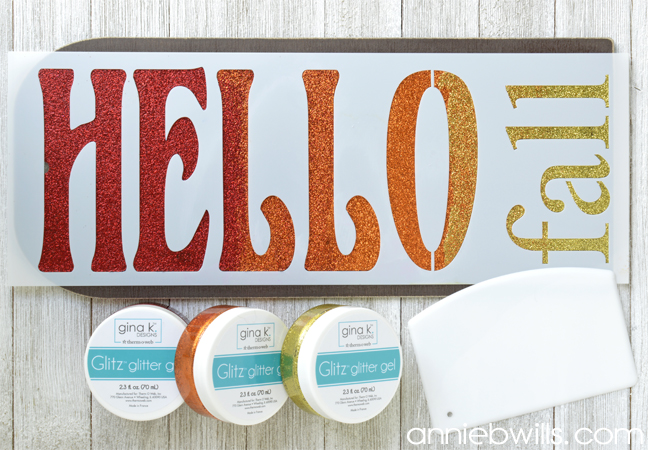 Hello Fall Sign by Annie Williams - Stenciling