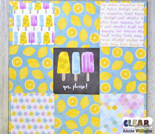 Summer Travel Game Board by Annie Williams for Clear Scraps - Adhere Background