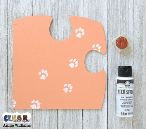 Cat Family Puzzle Decor by Annie Williams for Clear Scraps - Stamping