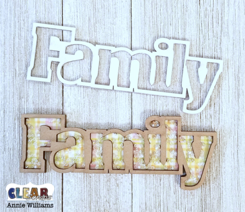 Cat Family Puzzle Decor by Annie Williams for Clear Scraps - Shaker