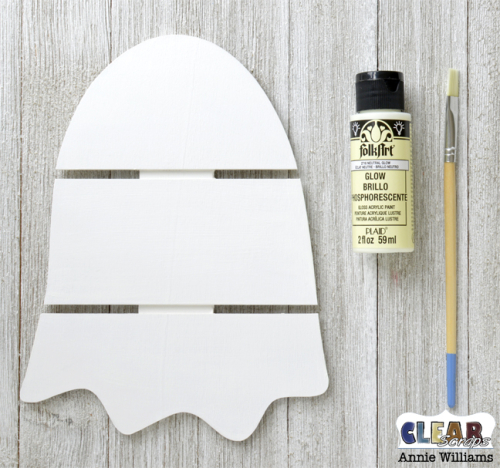 Glow in the Dark Ghost Pallet Decor by Annie Williams for Clear Scraps - Glow Coat