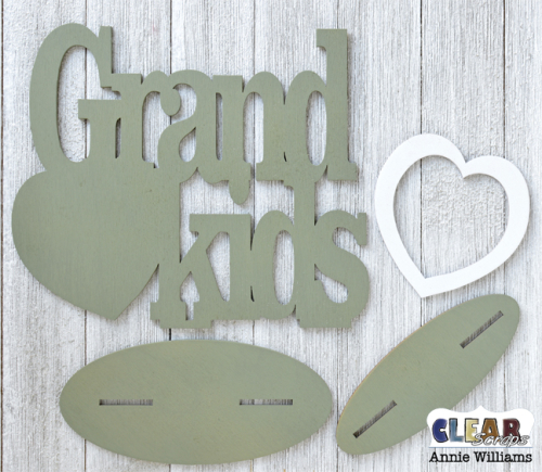 Grandkids Word Frame by Annie Williams for Clear Scraps - Paint Word Frame