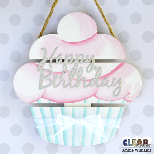 Birthday Cupcake Pallet by Annie Williams for Clear Scraps - Main