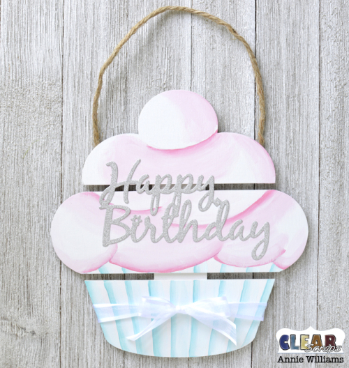 Birthday Cupcake Pallet by Annie Williams for Clear Scraps - Embellish