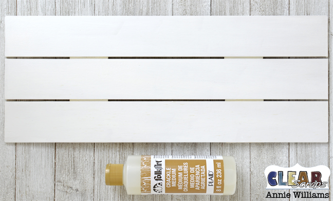 Simple Life Photo Frame Pallet by Annie Williams for Clear Scraps - Crackle Medium