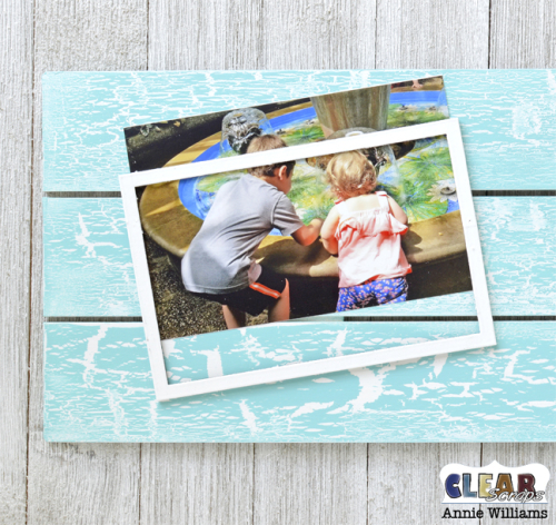 Simple Life Photo Frame Pallet by Annie Williams for Clear Scraps - Adhere Photo Frame