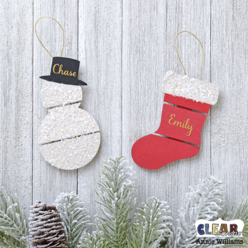 Quick and Easy Pallet Ornaments by Annie Williams for Clear Scraps - Main