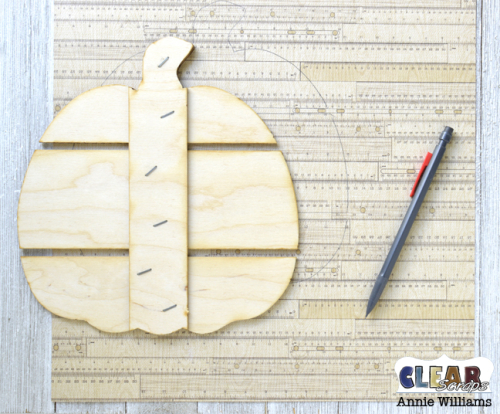 Thankful Pumpkin Pallet by Annie Williams for Clear Scraps - Tracing