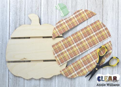Thankful Pumpkin Pallet by Annie Williams for Clear Scraps - Cut Pieces