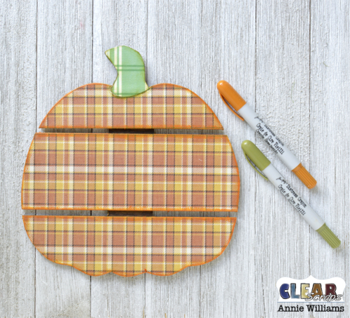 Thankful Pumpkin Pallet by Annie Williams for Clear Scraps - Coloring Edges