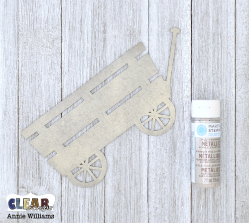 Home with Wagon of Flowers Pallet Sign by Annie Williams for Clear Scraps - Paint Wagon