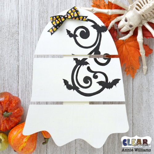 Glow in the Dark Ghost Pallet Decor by Annie Williams for Clear Scraps - Main