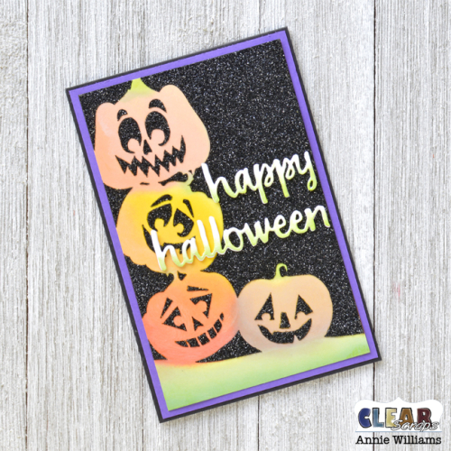 Halloween Night Pumpkins Card by Annie Williams for Clear Scraps - Final