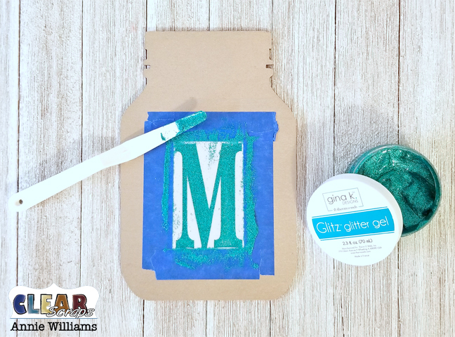 May Flowers Mason Jar Banner by Annie Williams for Clear Scraps - Stenciling