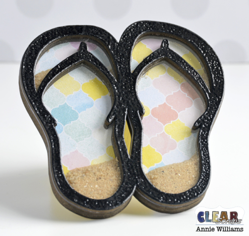 Vacation Shaker Magnets by Annie Williams for Clear Scraps - Flip Flop Detail