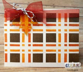 Clear_Scraps_4x6 Plaid Stencil_Fall Plaid Card(1)