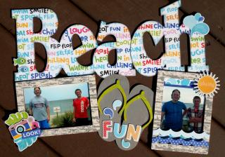 Clear_Scraps_XL Wood Frame_Beach Fun