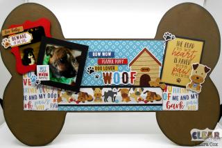 Clear_Scraps_XL Wood Dog Bone_The Road to My Heart