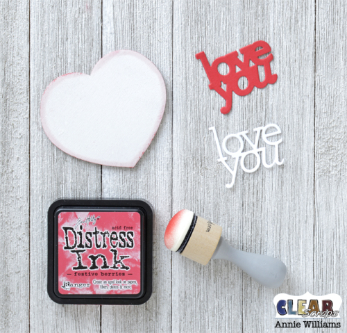 Valentine Heart Decor by Annie Williams for Clear Scraps - Finish Small Heart