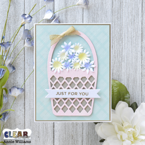 Springtime Flower Basket Card by Annie Williams for Clear Scraps - Main
