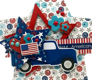 Clear_Scraps_Wooden Star_Patriotic Truck_close up 4
