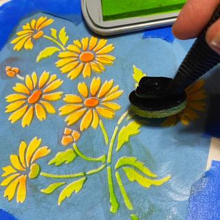 Clear_scraps_stencil_flowers_ink_canvas_bag_tsanders_leaves