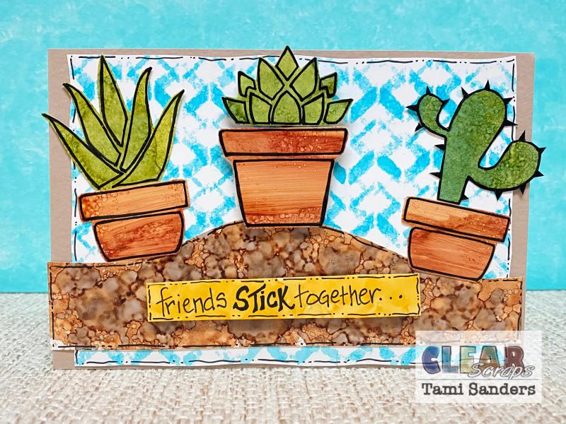 Clear_scraps_cactus_card_stencil_alcohol_ink