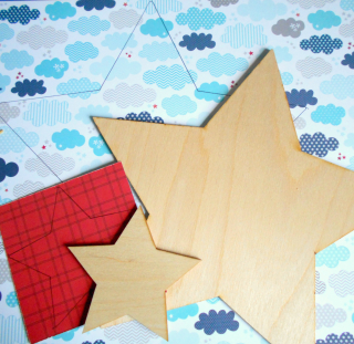 Clear_Scraps_Wooden Star_Patriotic Truck_close up 1