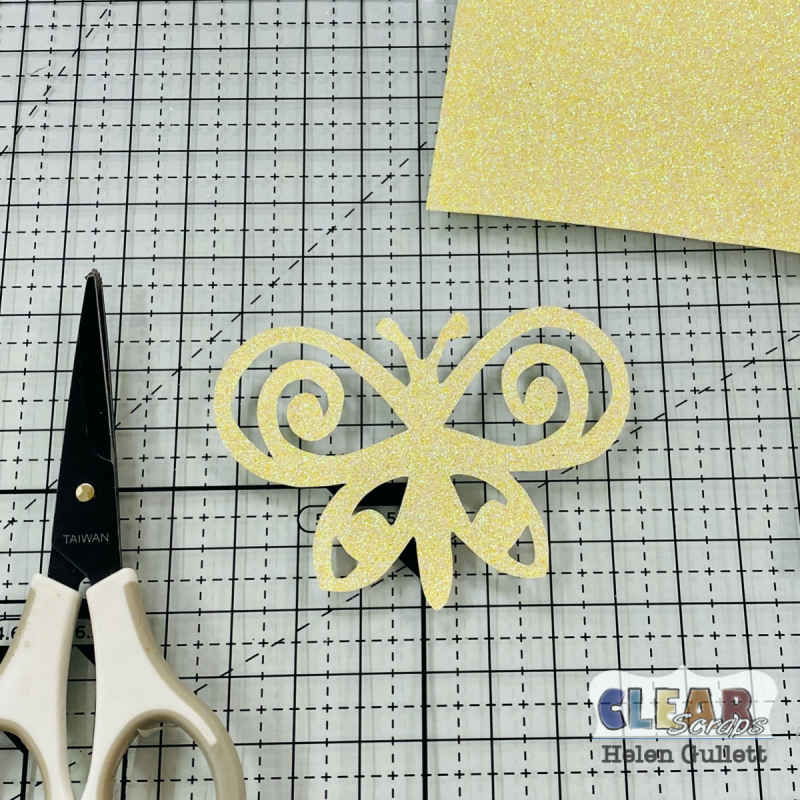 Clear_Scraps_Swirl_Butterflies_Chipboard_Embellishments_Card_Step_01