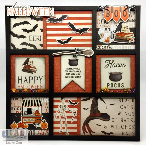 Clear_Scraps_Printers Tray_Happy Halloween
