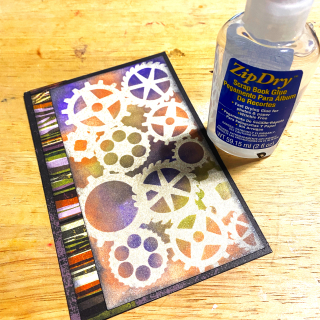 Glue_printed_clear_scraps_halloween_card_steampunk_stencil_gears
