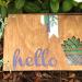 Hello Wood Card