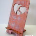 Heart Wood Phone Stand