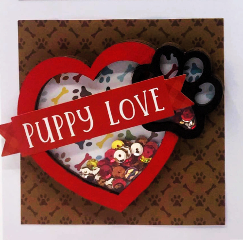 Clear Scraps Shaker Puppy Love LO(2)