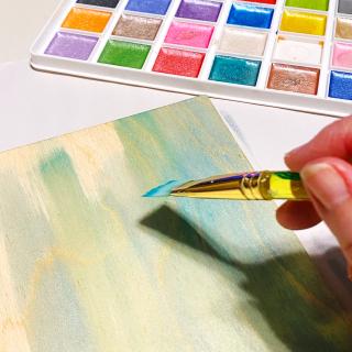 Clear_scraps_mermaid_fin_shaker_sign_bath_wood_tsanders_paint