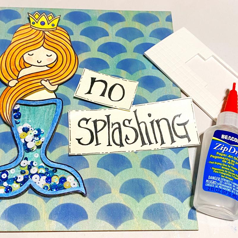 Clear_scraps_mermaid_fin_shaker_sign_bath_wood_tsanders_sign