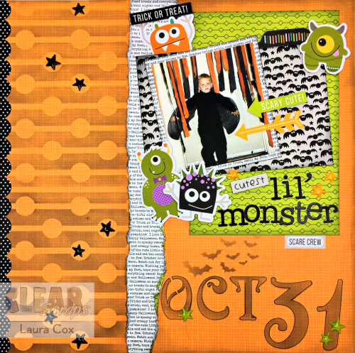 Clear Scraps Stencils Cutest Lil' Monster LO(1)