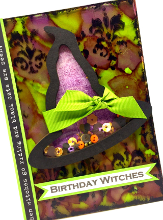 Clear_Scraps_Witch Hat Shaker_Birthday Witches Card_close up 2