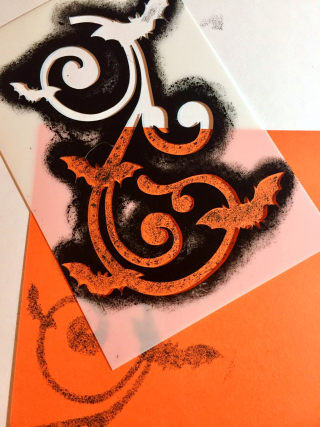 Clear_Scraps_Bat Stencil_Candy Cutie close up 1