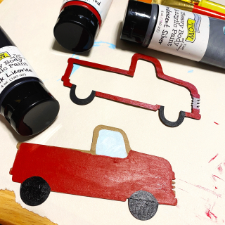 Clear_scraps_red_truck_christmas_decor_wood_stencil_2