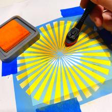 Clear_scraps_flower_shaker_card_stencil_thanks_orange